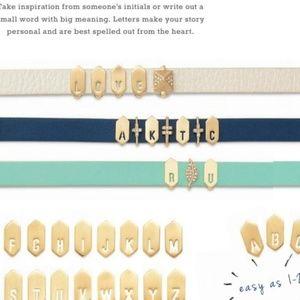 """NWT Keep Collective Geo Brushed Gold Letter """"I"""""""